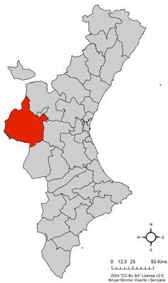 Localització_de_la_Plana_d'Utiel_respecte_del_País_Valencià