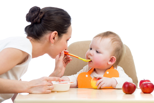 An Au Pair can help feed the baby!